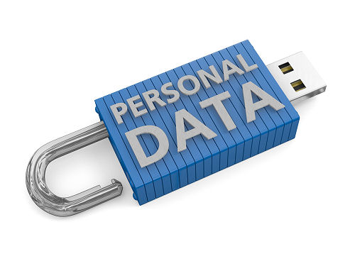 USB key unlocked depicting a loss or risk to personal data